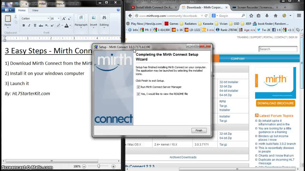 Install Mirth Connect on Windows - 3 Easy Steps by HL7StarterKit com