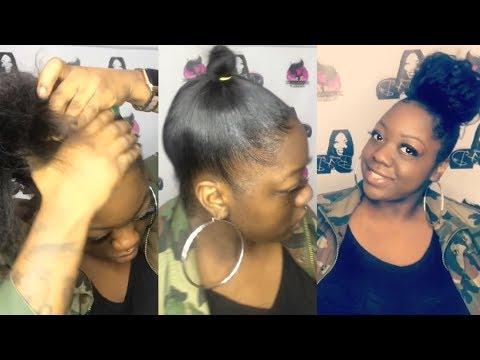 Messy Bun Natural Hair Youtube