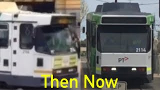 Before And After The Tram Refurbishment Comparison: Yarra Trams B2 2114