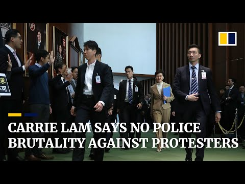 Hong Kong leader Carrie Lam rejects allegations of police brutality against protesters