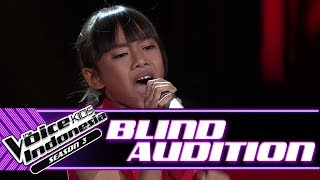Vanisya - She's Gone | Blind Auditions | The Voice Kids Indonesia Season 3 GTV 2018