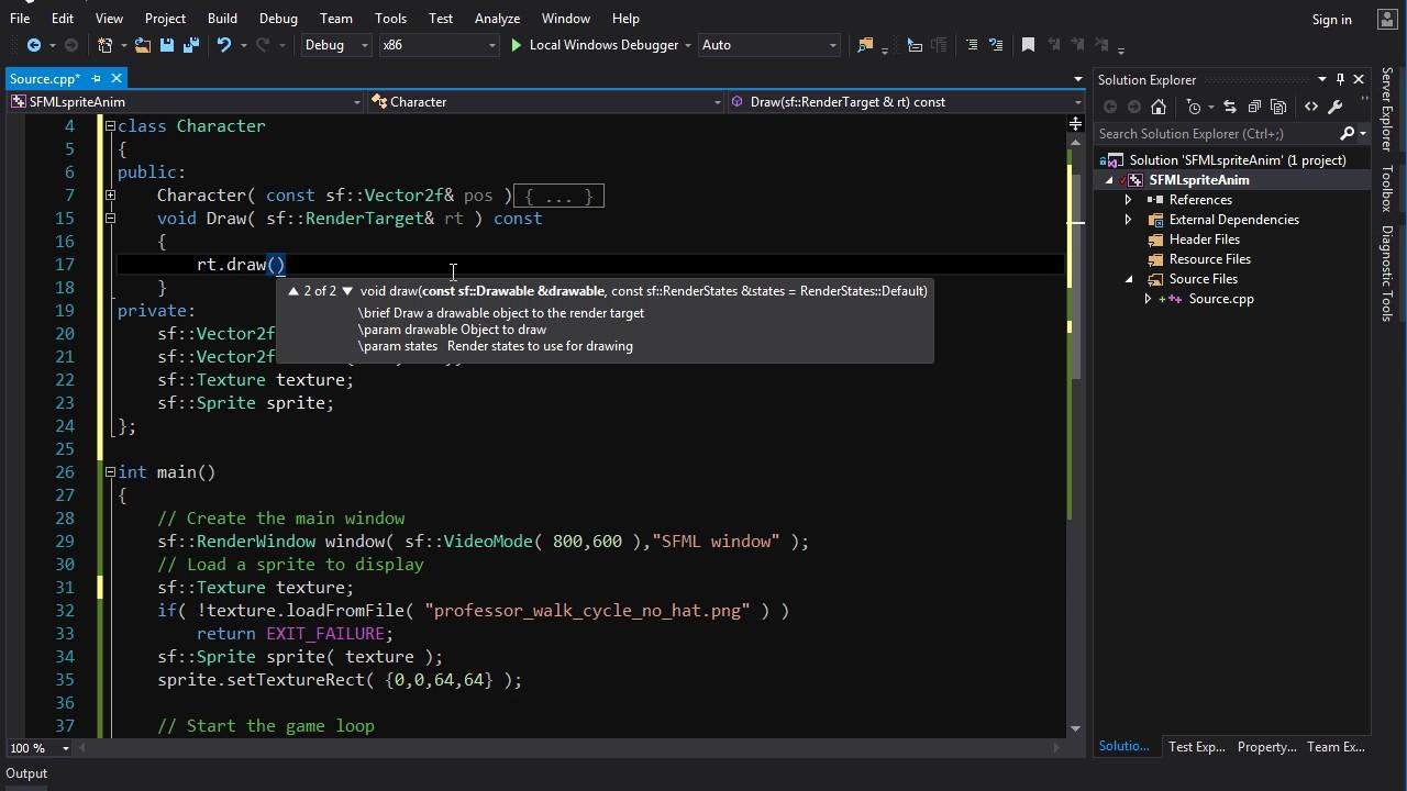 SFML C++ Tutorial Basic Recipes [Animated Sprite]