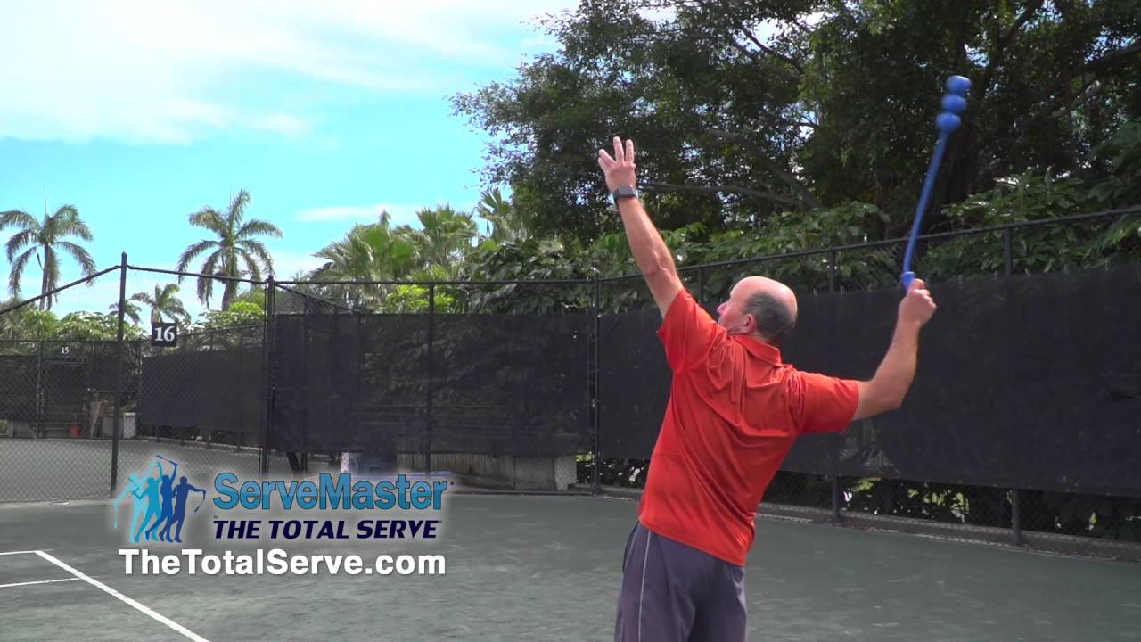 Serve Tool and Swing Trainer for Tennis Training The Total Serve 2-Ball ServeMaster