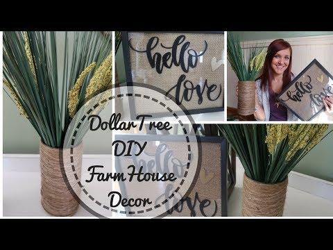 FARMHOUSE DECOR DIY | DOLLAR TREE DIY | DECOR UNDER $5 | BUDGET FRIENDLY DECOR