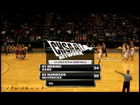 2012 CHSAA Girls Class 1A Semifinal - Merino Vs Norwood