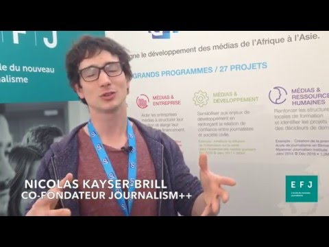 Interview Nicolas Kayser Bril, co-fondateur de Journalism++ à #4MParis