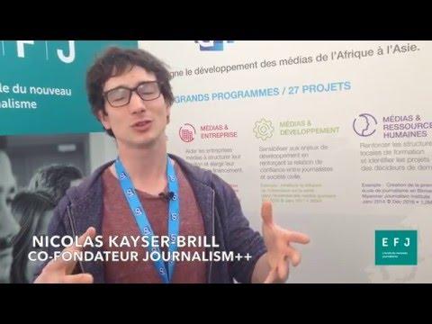 Interview Nicolas Kayser Bril, co-fondateur de Journalism++ à #4MParis