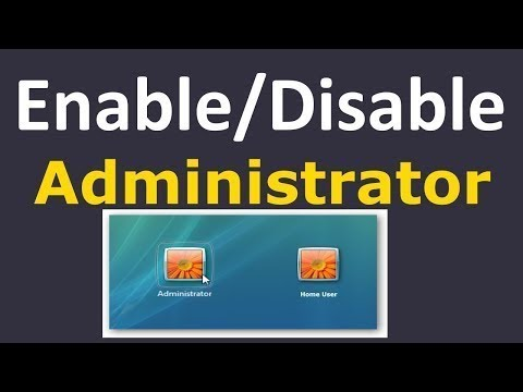 How To Enable Computer Administrator