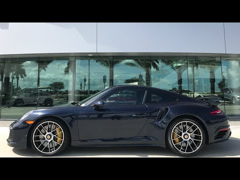 Download Youtube: 2017 Porsche Exclusive Night Blue Porsche 911 Turbo S 580 hp @ Porsche West Broward