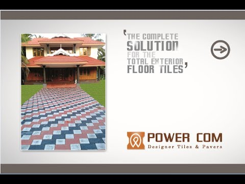 Powercom Designer Tiles And Pavers Palakkad Kerala Youtube