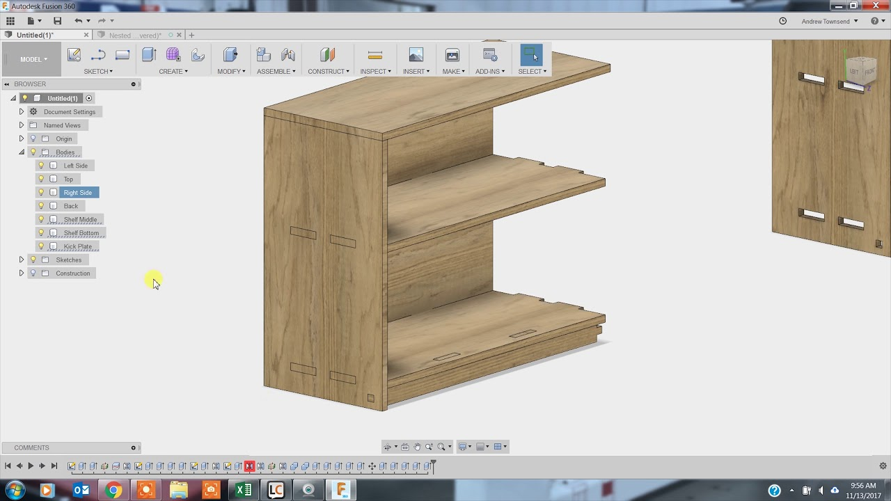 Fusion 360 Bookshelf Demo Part 1