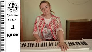 Клавиши с нуля - 1 урок. Linkin park - In the end на пианино.