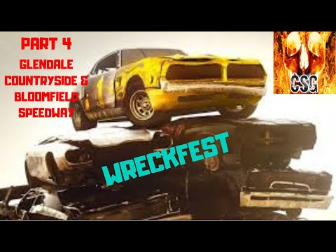 Let's Play Wreckfest Part 4 Glendale Countryside & Bloomfield Speedway