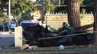 Stolen Vehicle Pursuit Ends With Two Dead, Another Injured In Garden Grove