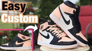 """Custom Jordan 1 CRIMSON """"TOE"""" TINTS Are Finished!"""