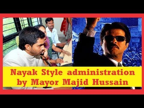 Nayak style: Mayor Mohammed Majid Husain Surprise inspection at GHMC Call Centre