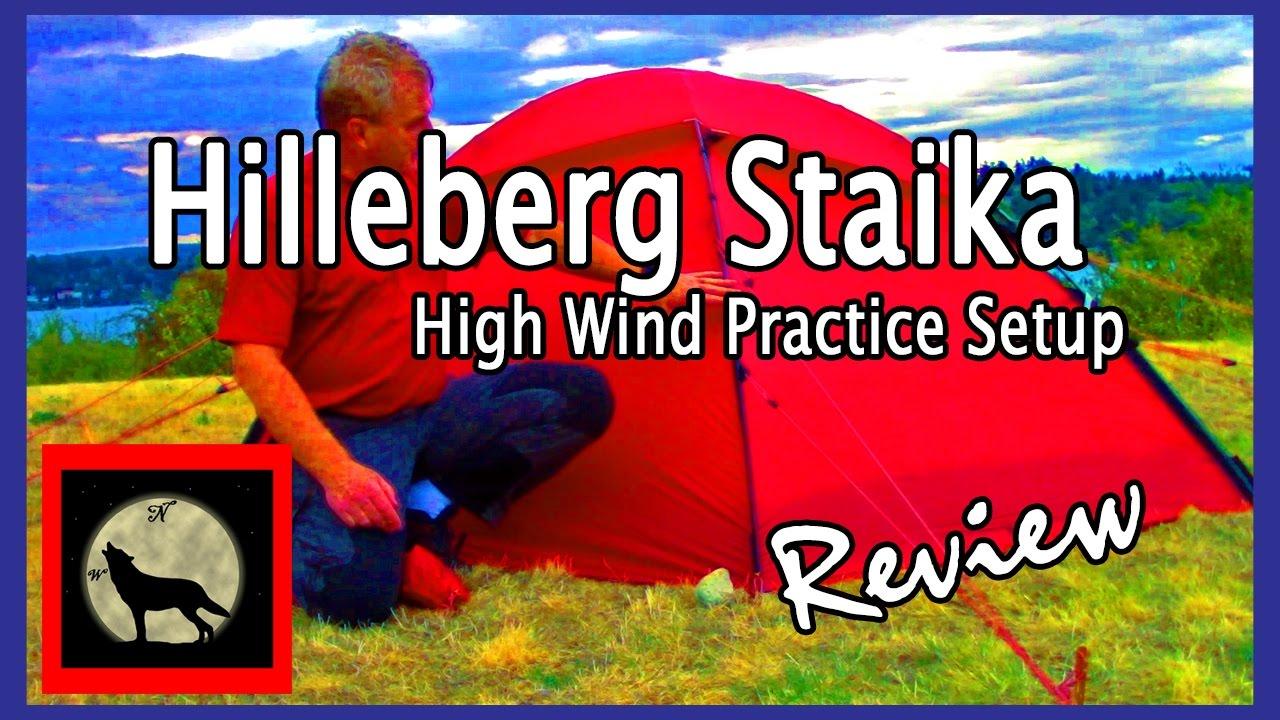 #hammock #hammocking #hammockc&ing  sc 1 st  YouTube & Hilleberg Staika High Wind Practice Setup-2 Person 4 Season Tent ...