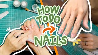 How to do my acrylic nails - VLOG #12