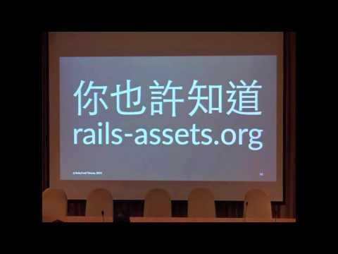 RubyConf Day1 R2 04 簡煒航:Gulp on Rails   Return Front end back to Front end Developers 還給前端工程師一個天空