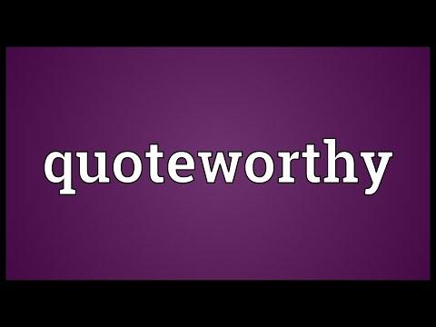 Header of quoteworthy