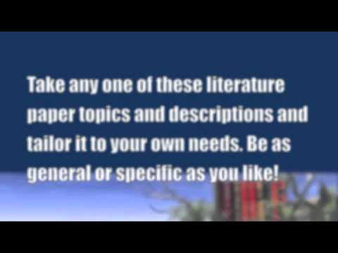 Paper Masters - Literature Term Papers