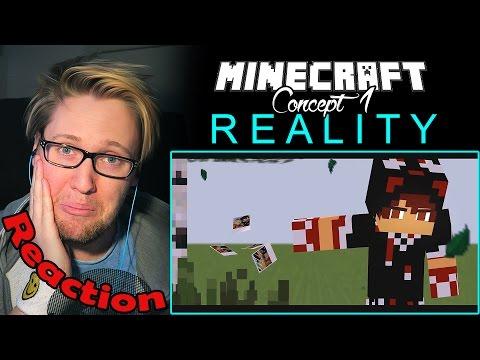 R E A L I T Y - Minecraft Animation (Concept 1) REACTION! | EPIC & SAD! |