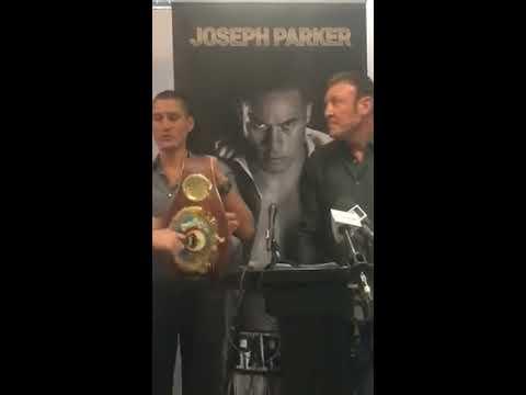 Joseph Parker Press Conference   ParkerBOX 2017