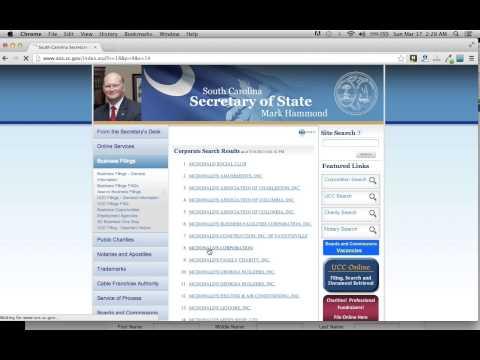 South Carolina Secretary of State Business Search