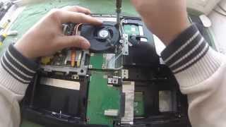 Ноутбук ASUS K50C (K40, K70), как почистить от пыли и заменить термопасту
