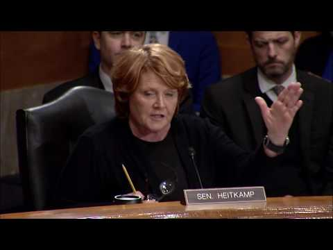 Heitkamp Questions DHS Secretary Nominee at Senate Committee Hearing