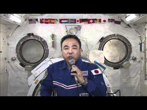 JAXA Flight Engineer Chats with Japanese Media
