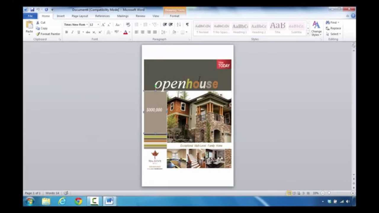 how to create a real estate flyer in microsoft word  how to create a real estate flyer in microsoft word 2010