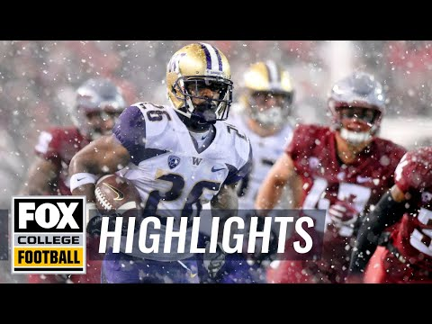 Washington State vs. Washington | FOX COLLEGE FOOTBALL HIGHLIGHTS