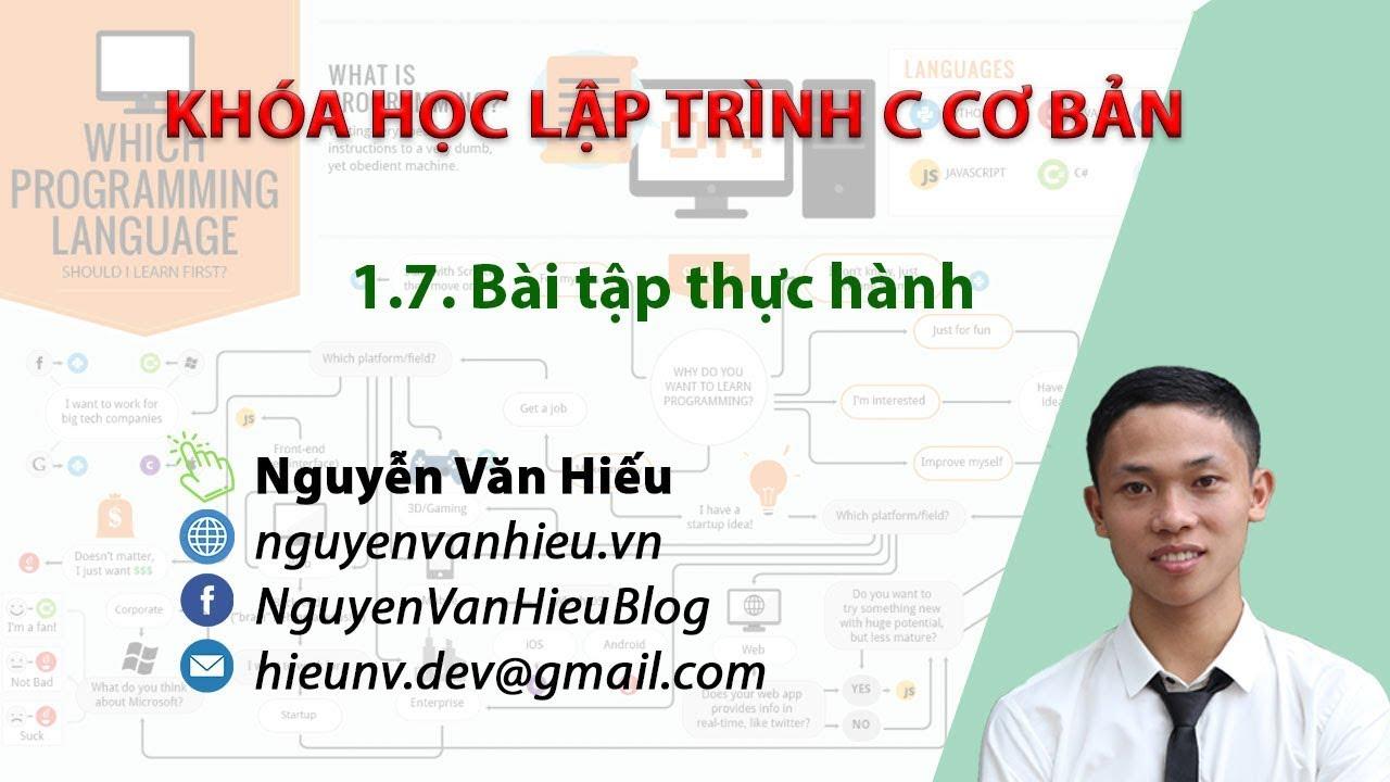 Bài tập lập trình C có lời giải chi tiết