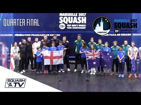 Squash: England v Australia - WSF Men's World Team Champs 2017 - Semi-Final Highlights