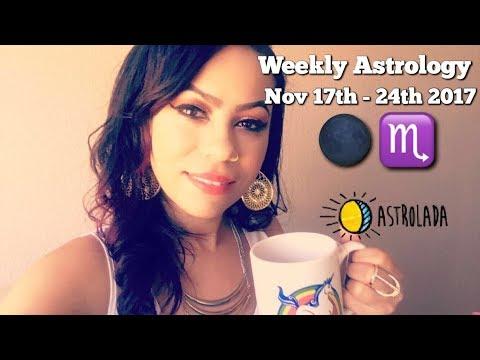 "Weekly Astrology Forecast for Nov 17th - 24th & Celebrity ""Coffee Talk"" W/Astrologer April!"