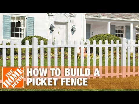 How To Build A Spaced Picket Fence The Home Depot Youtube