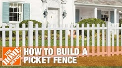 How to Build a Spaced Picket Fence | The Home Depot