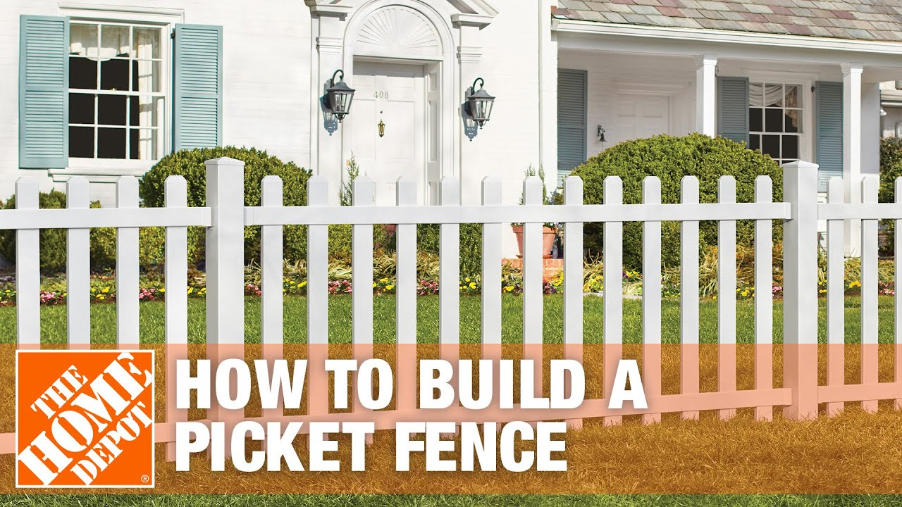 how to build a spaced picket fence youtube. Black Bedroom Furniture Sets. Home Design Ideas