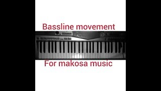 Bass movement for makosa on piano
