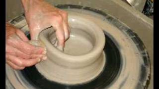 Throwing a pot on Potters wheel step by step tutorial - Lakeside Pottery in Stamford, CT