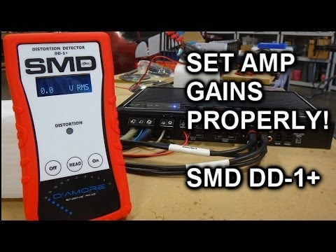 How to set Amplifier Gains the right way - the New SMD DD-1 + (Distortion Detector PLUS)