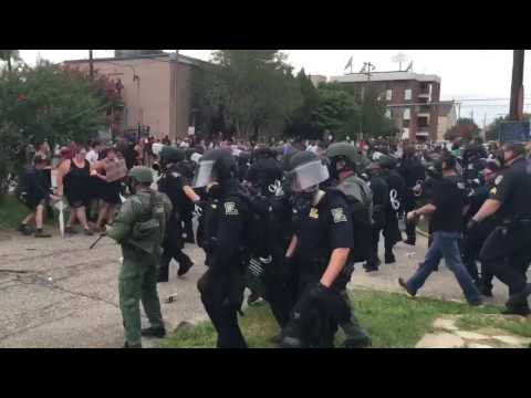 Raw Louisiana peaceful protest turns into arrest and chaos Sunday July 10, 2016