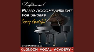 Sorry Grateful ('Company' Piano Accompaniment) (Professional Karaoke Backing Track)