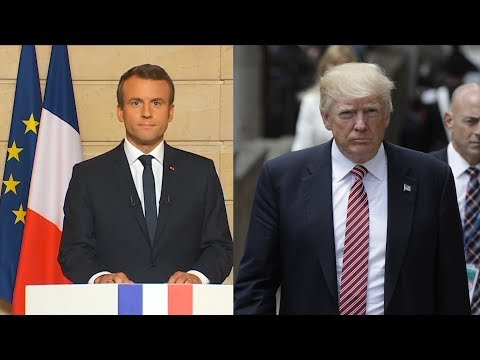 French president excoriates Trump in English over US withdrawal from climate deal