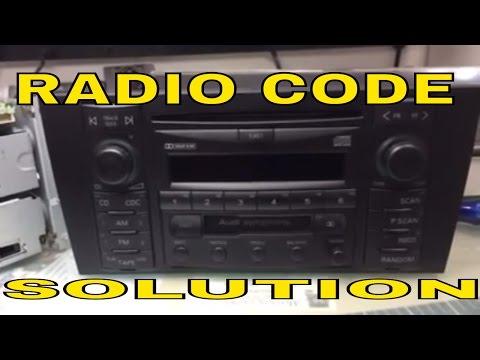 VW AUDI radio code Unlock