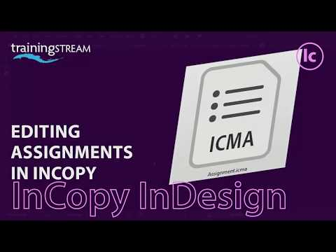 Using Adobe InCopy CC 2018 to edit assignments exported from InDesign