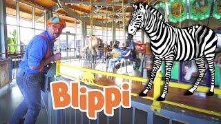 Blippi At The Zoo | Animal Videos For Kids