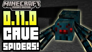 Minecraft Pocket Edition - 0.11.0 UPDATE! - CAVE SPIDERS! + MORE! INFO