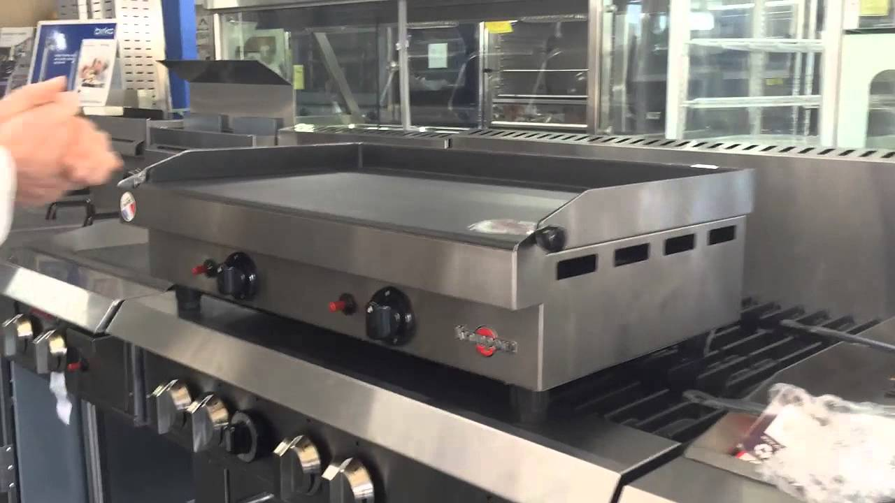Compact Commercial Gas Grill Griddle - YouTube